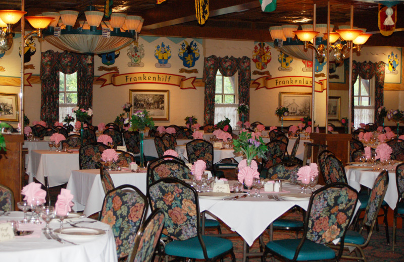 Dining at Bavarian Inn of Frankenmuth.