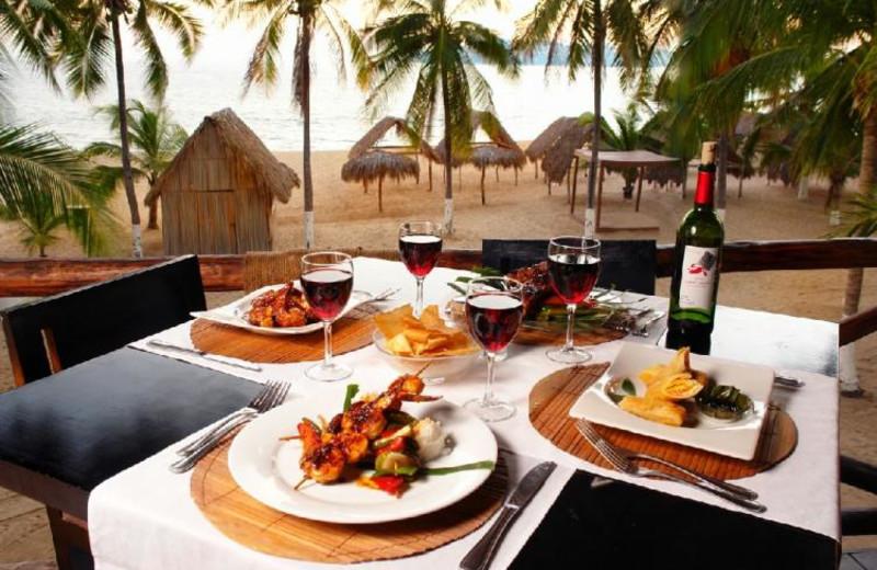 Dining at Hotel Continental Emporio Acapulco.