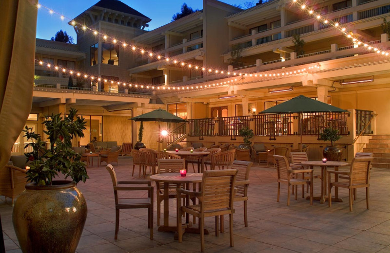 Outdoor dining at Toll House, a Larkspur Collection Hotel.