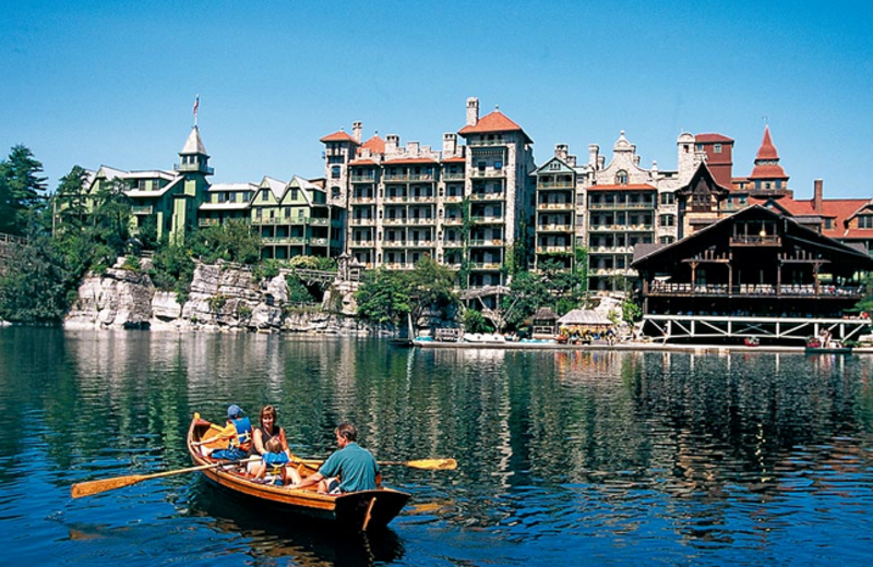 Canoe rides at Mohonk Mountain House.