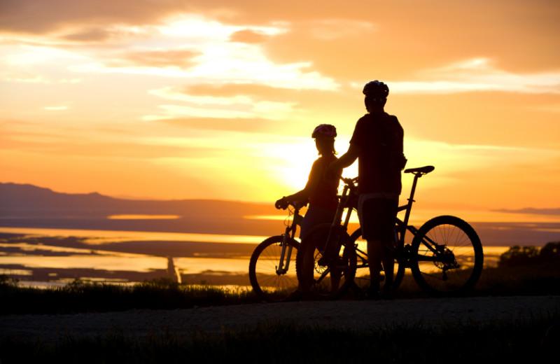 Biking at Edgewater Resort.