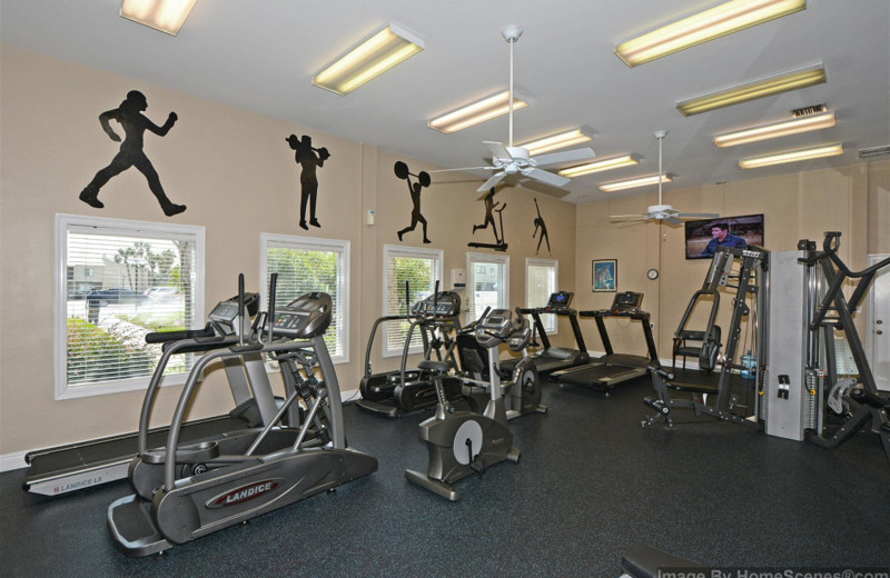 Fitness room at Shoreline Towers.