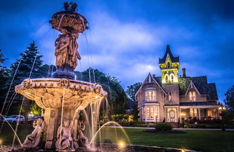 Fountain view at Elm Hurst Inn & Spa.