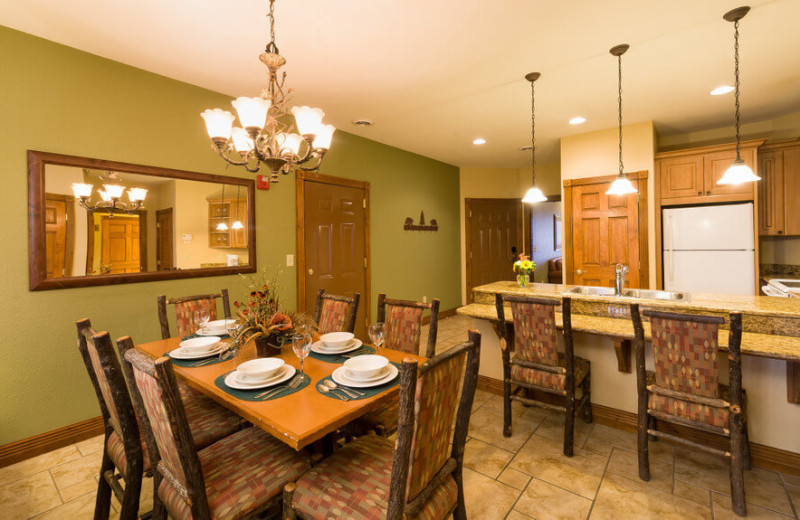 Guest kitchen at Westgate Smoky Mountain Resort & Spa.