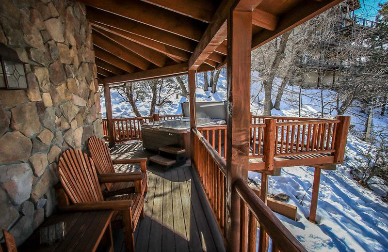 Rental deck at Big Bear Vacations.