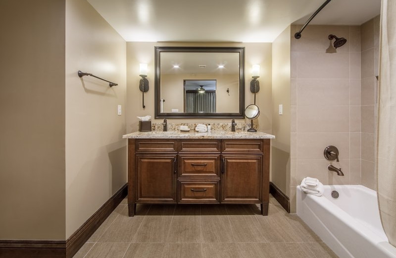 Guest bathroom at Holiday Inn Club Vacations Scottsdale Resort.