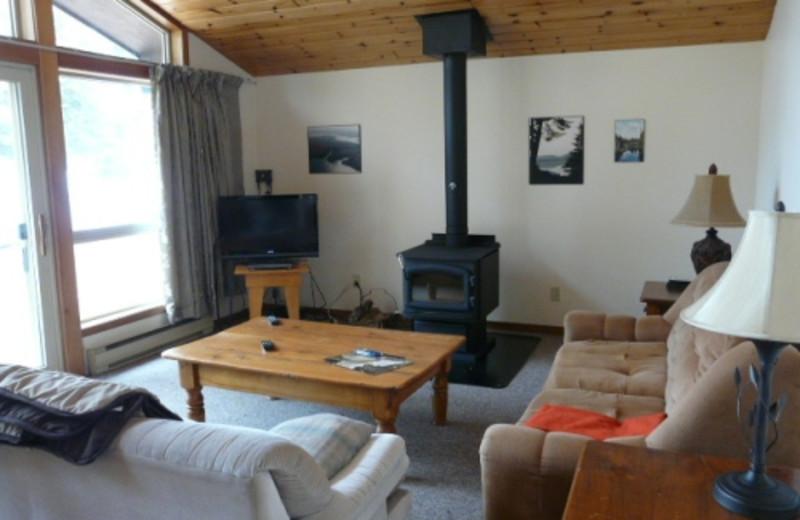 Cabin Living Room at Walker Lake Resort