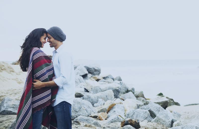Couple at Cavalier Beachfront Condominiums.