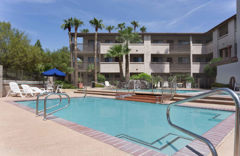 Outdoor pool at Days Inn & Suites Tempe.