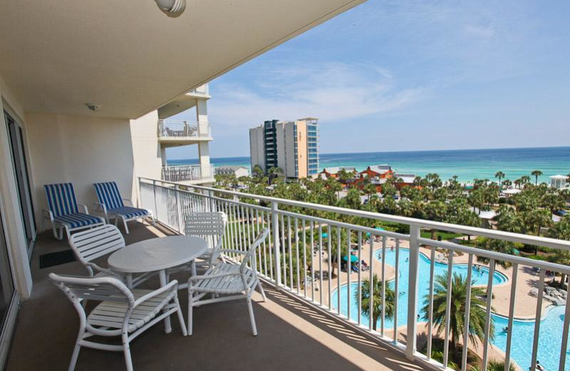 Rental balcony at Sterling Shores.