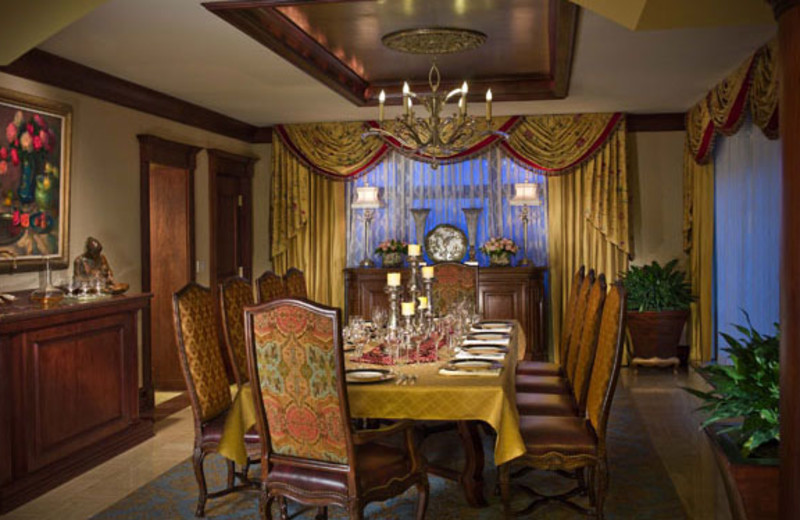 Guest suite dining table at The Broadmoor.