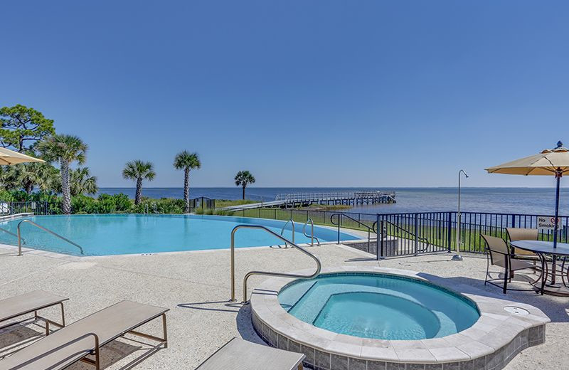 Rental pool at No Worries Vacation Rentals.