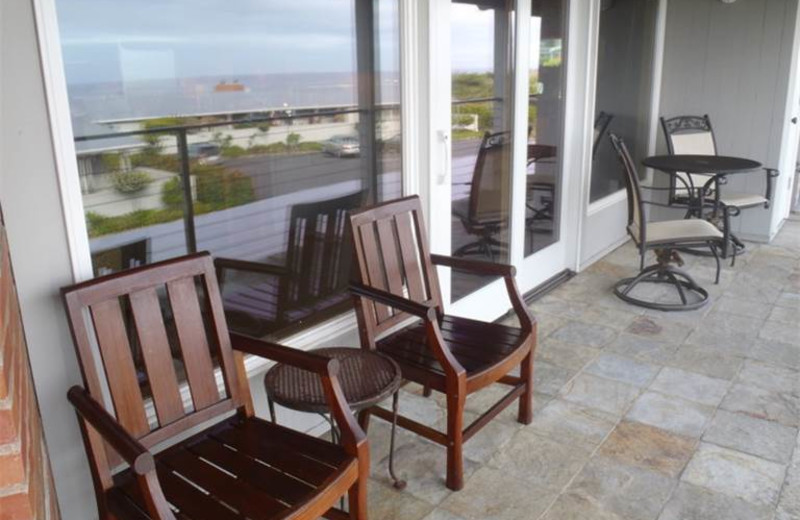 Rental patio at Gearhart by the Sea.