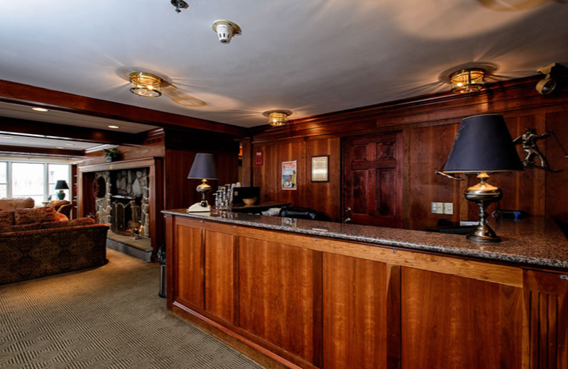 Front desk at The Valley Inn.