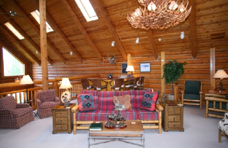 Interior of The Hideout Lodge & Guest Ranch.