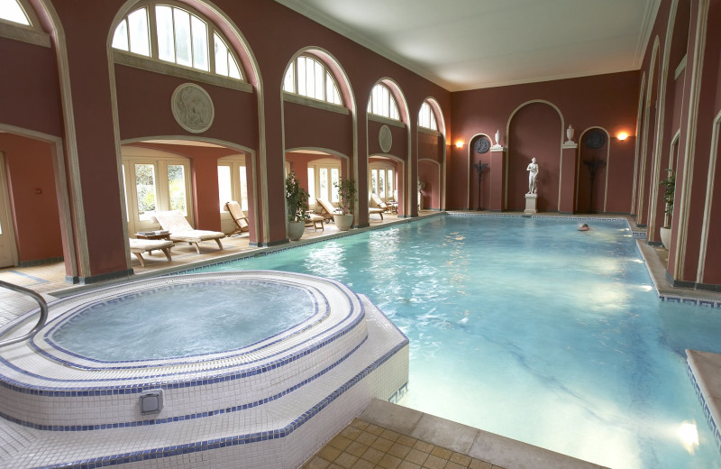 Indoor pool at Hartwell House.