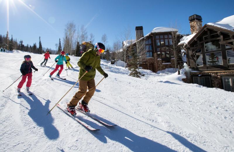 Skiing at Natural Retreats Great Smoky Mountains.