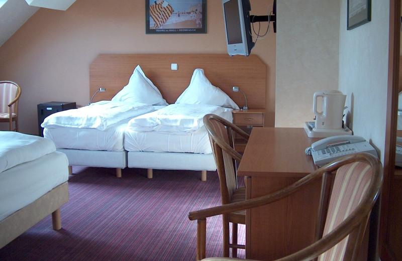 Guest room at Hôtel Royal Albert.