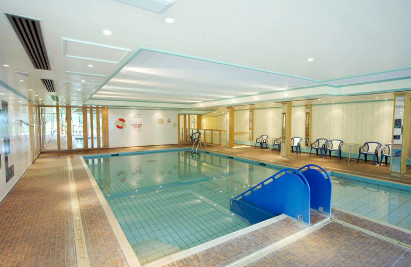 Indoor pool at Langstone Cliff Hotel.