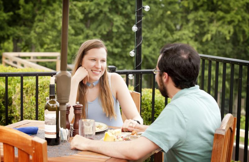 Patio dining at Oglebay Resort and Conference Center.