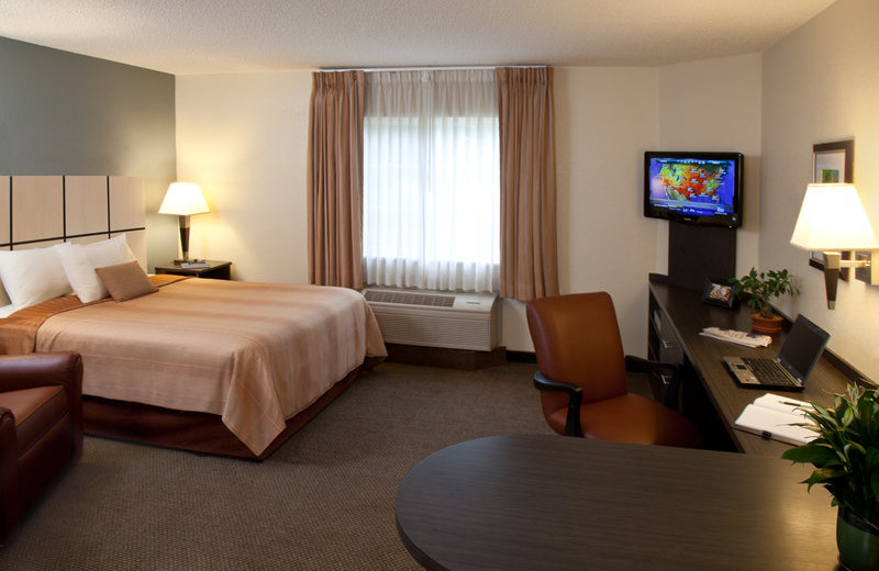 Guest room at Candlewood Suites Orange County/Irvine Spectrum.