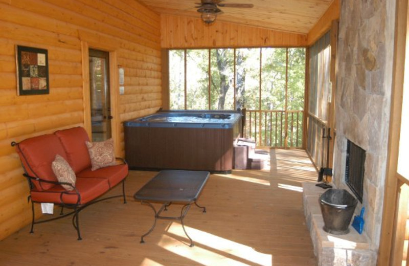 Cabin deck view at Blue Ridge Cabin Rentals.