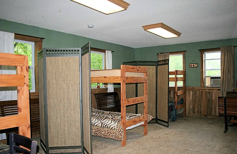 Guest bunk beds at  Elk Ridge Ranch.