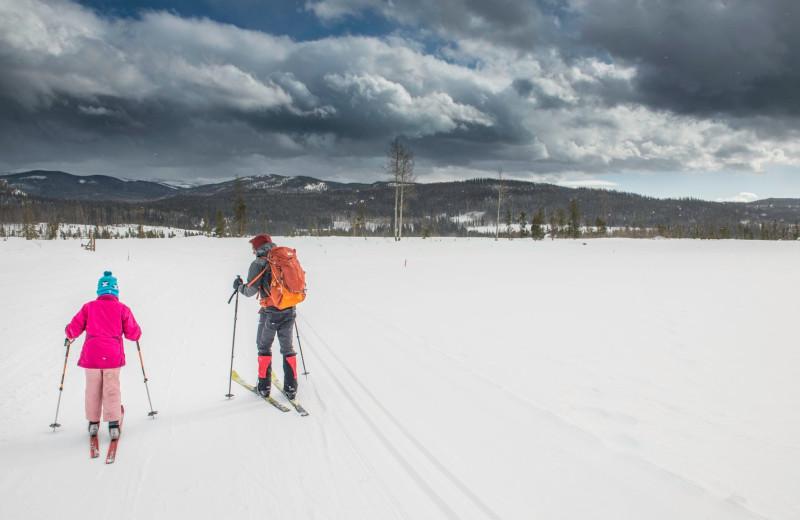 Skiing at Vista Verde Ranch.