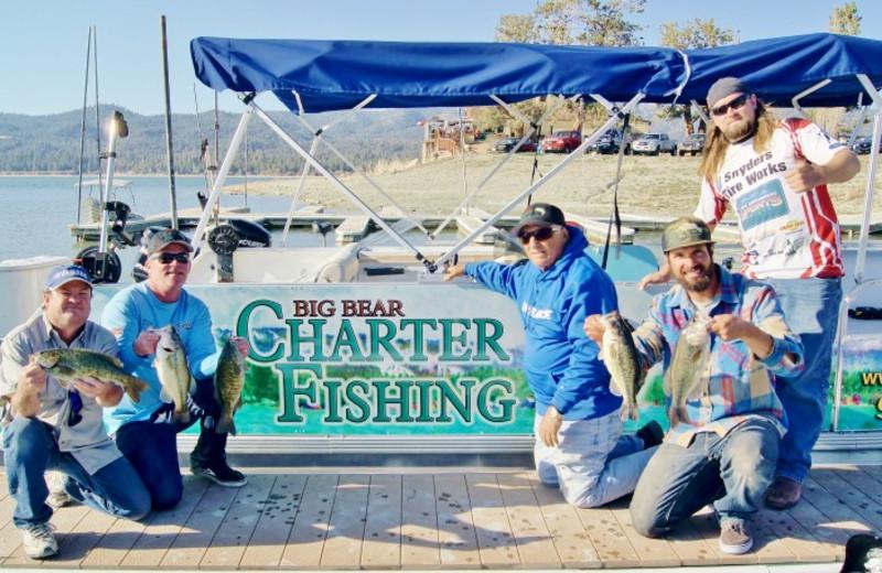 Fishing at Big Bear Cool Cabins.
