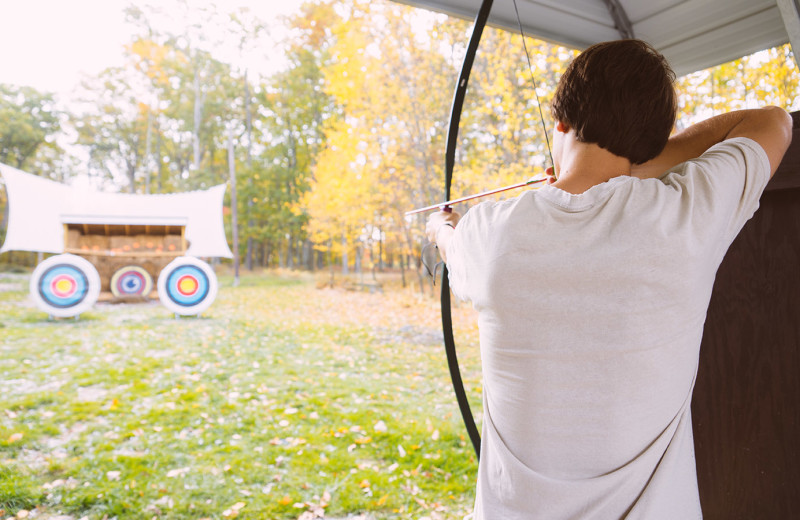 Archery at Woodloch Resort.