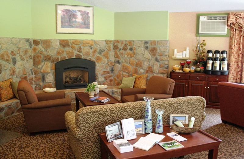 Lobby view at Best Western Acadia Park Inn.