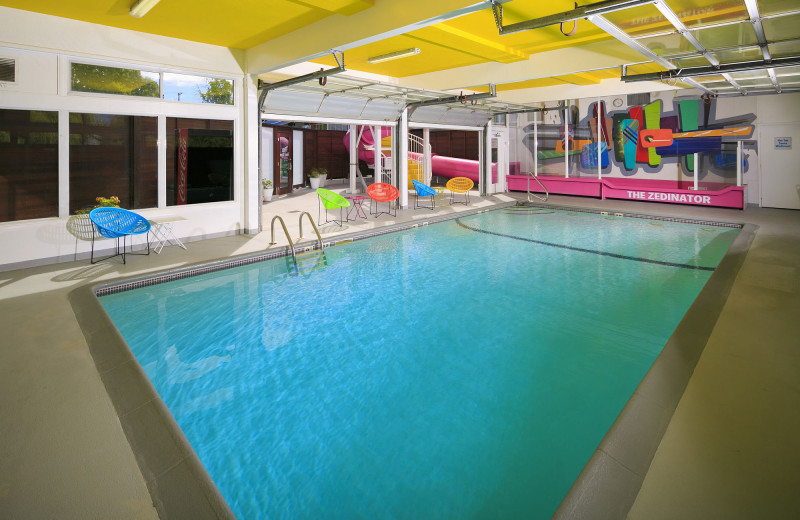 Indoor pool at Hotel Zed.