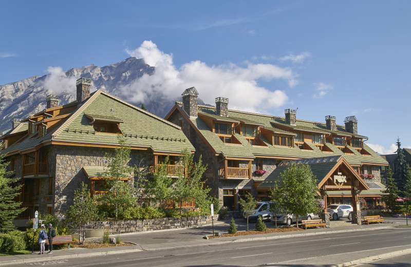 Exterior view of The Fox Hotel & Suites in Banff.