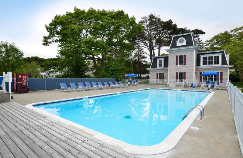 Outdoor pool at Bar Harbor Inn & Spa.