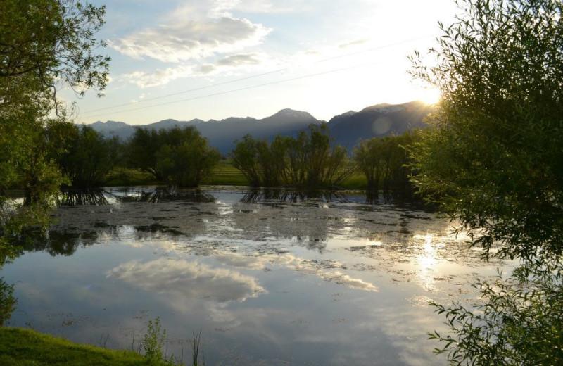 Beautiful lake at Ninepipes Lodge.