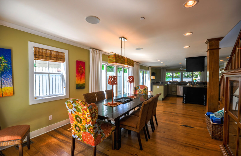 Rental kitchen and dining at Rent Key West Vacations.