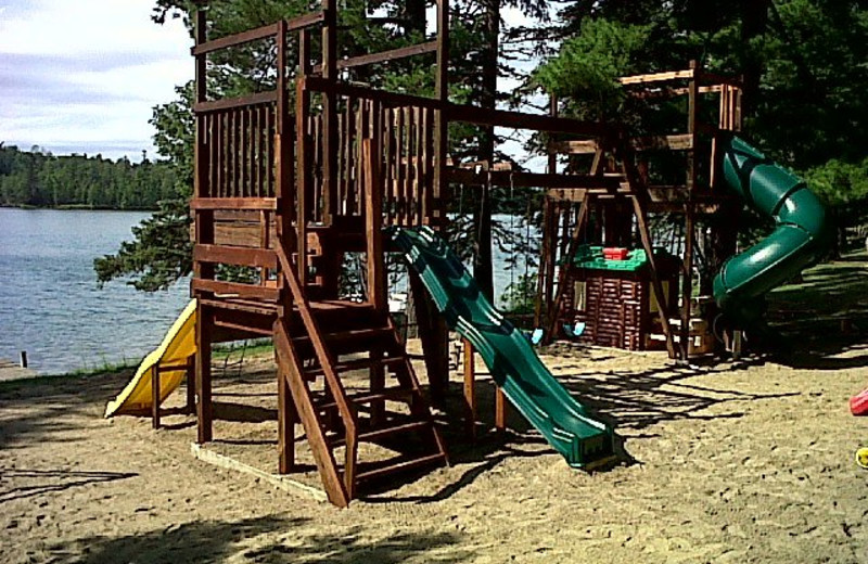 Playground equipment at Moore Springs Resort.