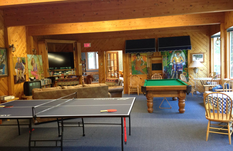 Rec room at The Baldwins Resort.