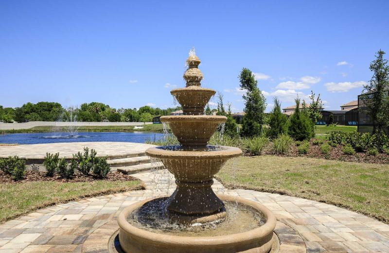 Fountain at Balmoral Resort.