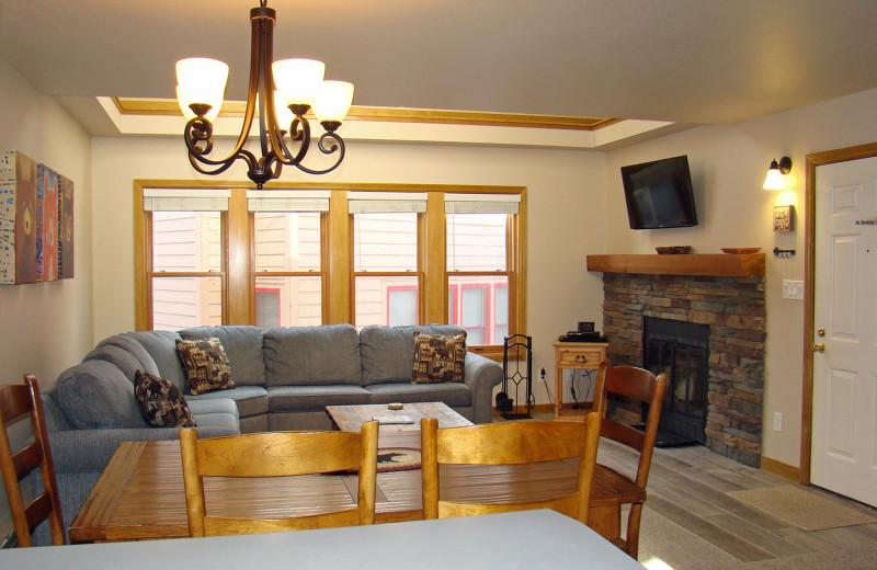 Guest living room at Ferringway Condominiums.