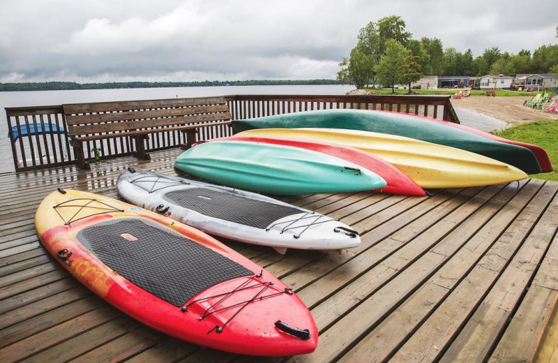 Kayaks at Great Blue Resorts- McCreary's Beach Resort.