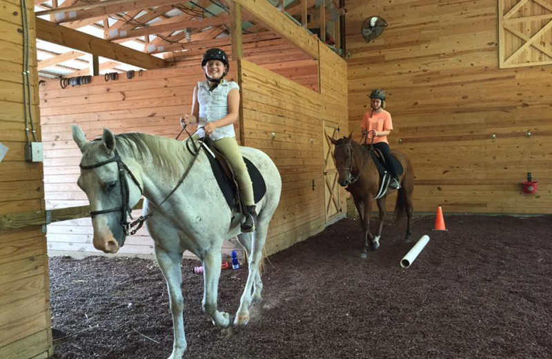 Horseback riding at A Tennessee Guest Ranch.