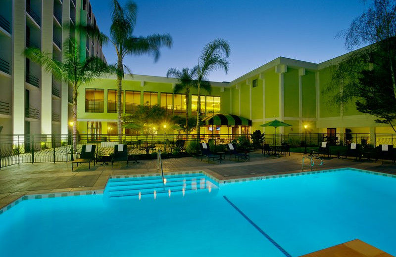 Outdoor pool at Holiday Inn San Jose.