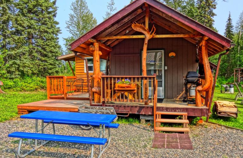 Cabin exterior at Fireweed Lodge At Lake Creek.