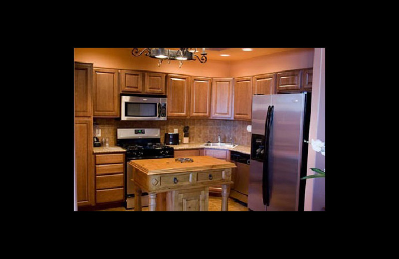 Rental kitchen at Embarcadero Luxury Townhomes & Suites.