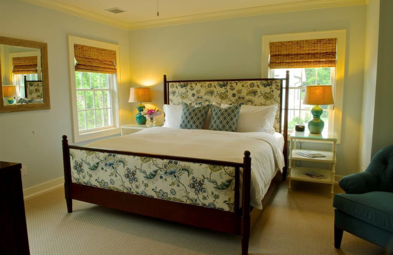 Guest room at The Inn at Quogue.