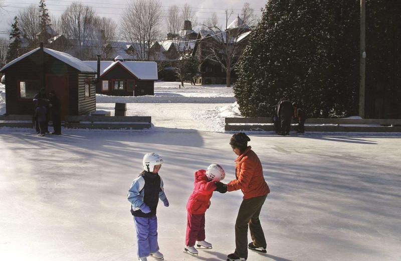 Ice skating at Fairmont Le Chateau Montebello.
