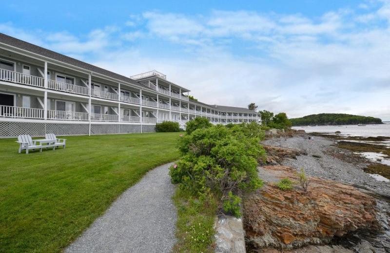 Oceanfront lodge at Bar Harbor Inn & Spa.