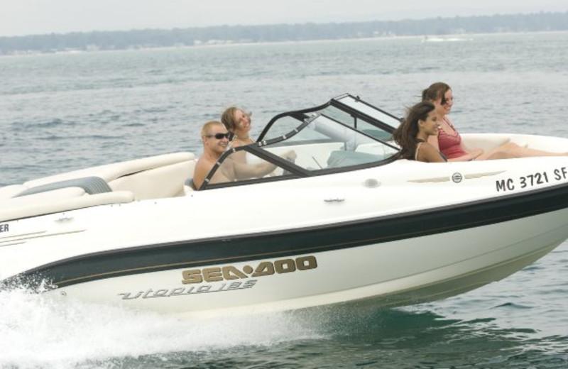 Boating at ParkShore Resort.