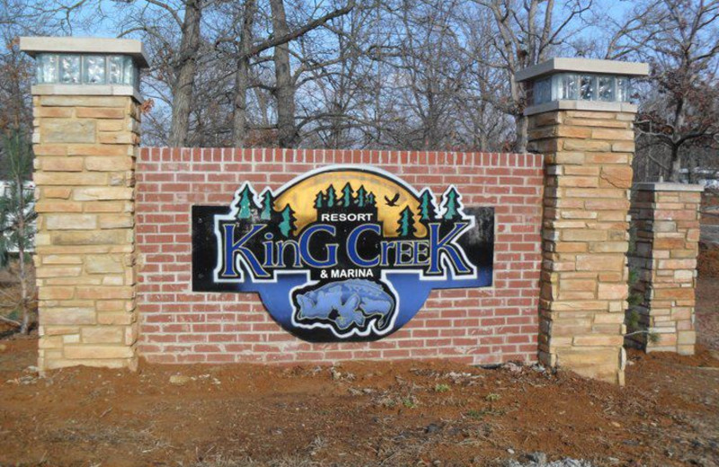 King Creek Resort & Marina sign.